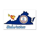ILY Virginia Car Magnet 20 x 12