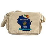 ILY Wisconsin Messenger Bag