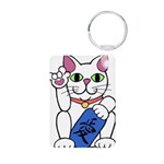 ILY Neko Cat Aluminum Photo Keychain