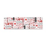 Love WordsHearts Car Magnet 10 x 3