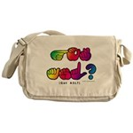 Got ASL? Rainbow SQ CC Messenger Bag