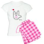 B/W Bold I-Love-You Women's Light Pajamas