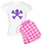 PurpleSkull&Crossbones Women's Light Pajamas