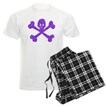 PurpleSkull&Crossbones Men's Light Pajamas