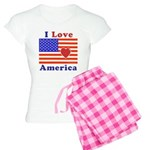 Heart America Flag Women's Light Pajamas