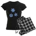 3-D Snowflakes Women's Dark Pajamas