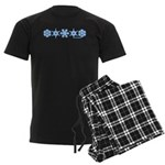 Winter Snowflakes Men's Dark Pajamas