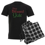 Blessed Yule Men's Dark Pajamas