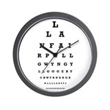 Welsh Eye Test Wall Clock