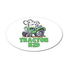 Green Tractor Kid 38.5 x 24.5 Oval Wall Peel