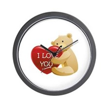 Teddy Bear Love Wall Clock