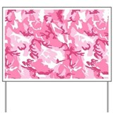 Pink Camouflage Pattern Yard Sign