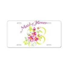 Maid of Honor Aluminum License Plate