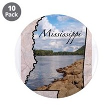 "Funny Mississippi 3.5"" Button (10 pack)"