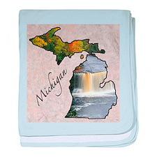 Cool Michigan baby blanket