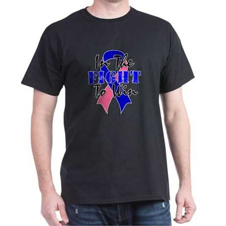 Male Breast Cancer Fight Dark T-Shirt