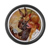 Alice & the March Hare Large Wall Clock