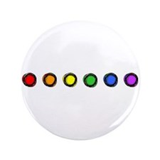 "SO Gay Rainbow Dots 3.5"" Button"