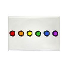 SO Gay Rainbow Dots Rectangle Magnet
