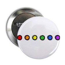 "SO Gay Rainbow Dots 2.25"" Button"