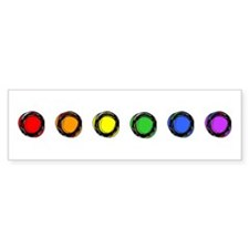 SO Gay Rainbow Dots Bumper Stickers