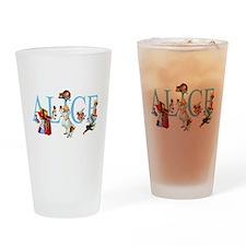 ALICE IN WONDERLAND & FRIENDS Drinking Glass
