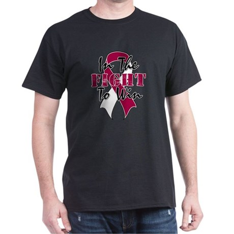 Throat Cancer In The Fight Dark T-Shirt