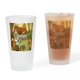 ALICE IN THE RABBIT'S HOUSE Drinking Glass