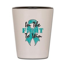 Ovarian Cancer In The Fight Shot Glass