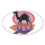 Colorful Camel Design Sticker (Oval 10 pk)