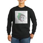 Goofy Armadillo Long Sleeve Dark T-Shirt