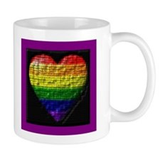 2IMAGE STIPPLED RAINBOW HEART Mug