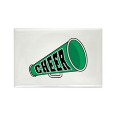 Green Cheer Megaphone Rectangle Magnet (100 pack)