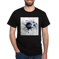 Soccerball Ripping Through T-Shirt