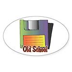 Old School Floppy Disk Sticker (Oval 50 pk)