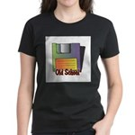 Old School Floppy Disk Women's Dark T-Shirt