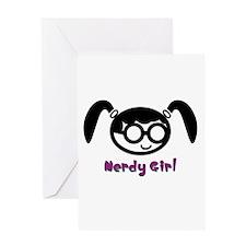 Nerdy Girl Greeting Card