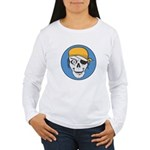 Colored Pirate Skull Women's Long Sleeve T-Shirt