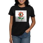 Retro Yin Yang Flower Women's Dark T-Shirt