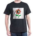 Retro Yin Yang Flower Dark T-Shirt