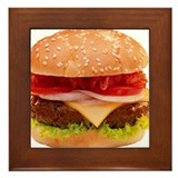 Cheeseburger Framed Tile