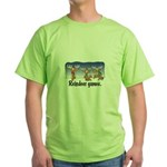 Reindeer Games Cartoon Green T-Shirt