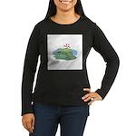 Frogs in Love Women's Long Sleeve Dark T-Shirt
