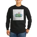 Frogs in Love Long Sleeve Dark T-Shirt
