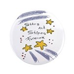 "Stars and Stripes Forever 3.5"" Button (100 pa"