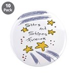 "Stars and Stripes Forever 3.5"" Button (10 pac"