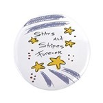 "Stars and Stripes Forever 3.5"" Button"
