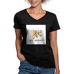 Got Cooties? Women's V-Neck Dark T-Shirt