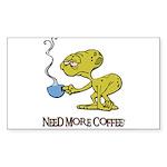 Cofee Alien Sticker (Rectangle 10 pk)