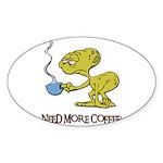 Cofee Alien Sticker (Oval 50 pk)